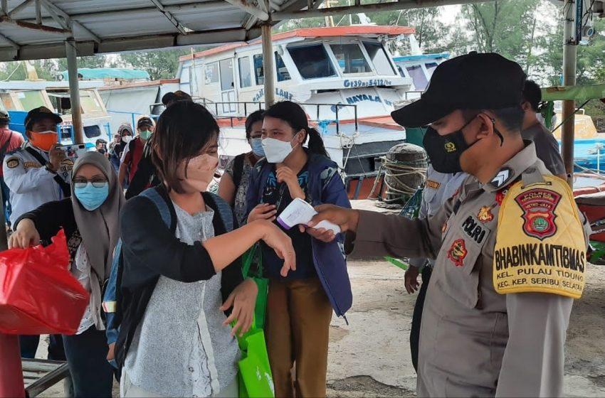 Tiba di Pulau Tidung, 29 Warga di Cek Suhu Badan dan Sertifikat Vaksin