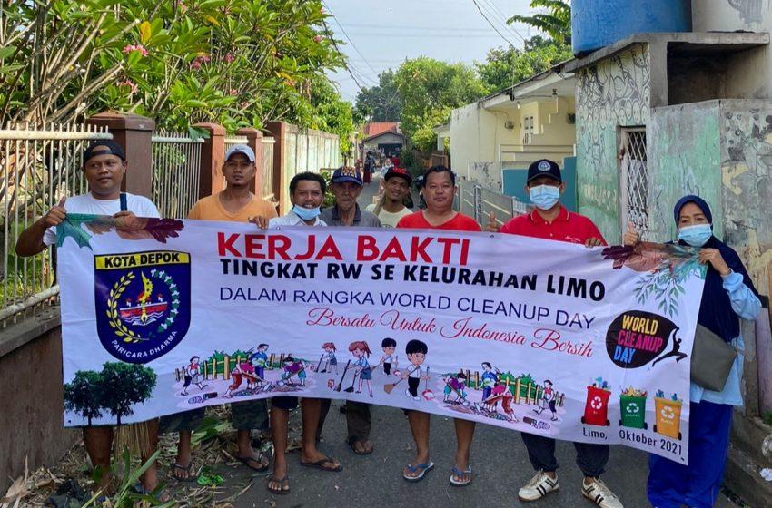 Tiga Pilar Kelurahan Limo Ajak Seluruh Warga di Setiap RW Bersihkan Sampah Dilingkungannya